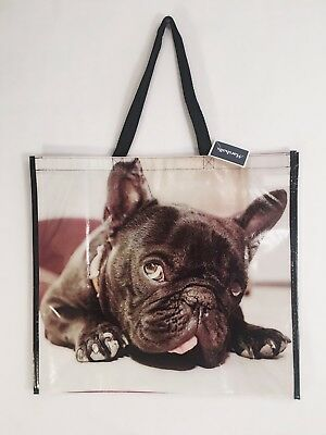 Reusable Tote Frenchie French Bulldog Shopping Bag Dog Puppy Eco Friendly New