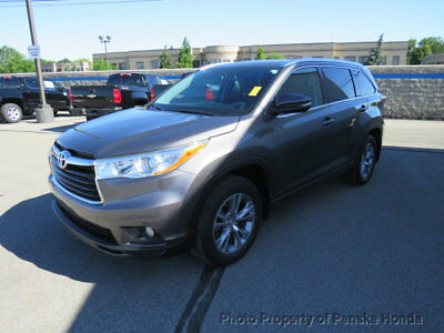 2014 Toyota Highlander HIGHLANDER XLE HIGHLANDER XLE 4 dr Automatic Gasoline 3.5L V6 Cyl GRAY