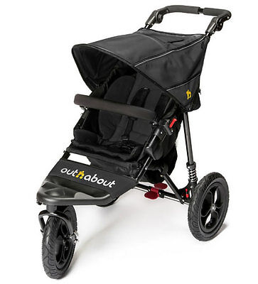 Brand new in box Out n About nipper single 360  V4 pushchair raven black and pvc