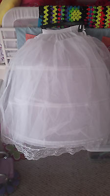Girls Size 7 Petticoat Hoop Skirt Slip For Formal Pageant Gown