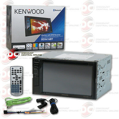 "Kenwood Ddx416Bt Car Double Din 6.2"" Touchscreen Usb Dvd Cd Bluetooth Stereo"