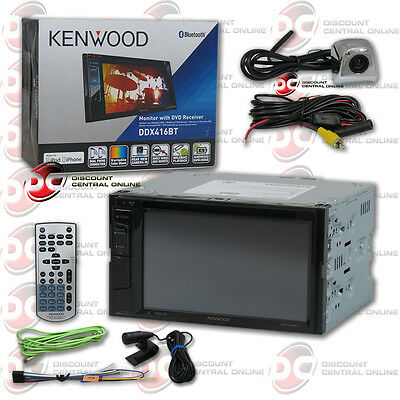 "Kenwood Ddx416Bt 2Din 6.2"" Dvd Bluetooth Radio Free Chrome Keyhole Backup Camera"