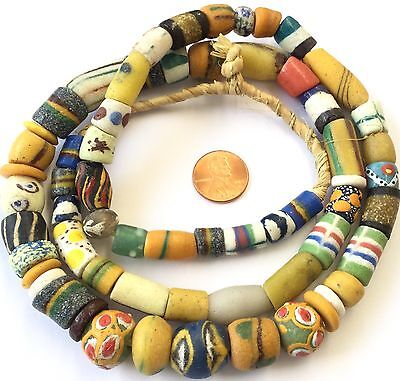 Ghana  recycle glass mixed African trade beads