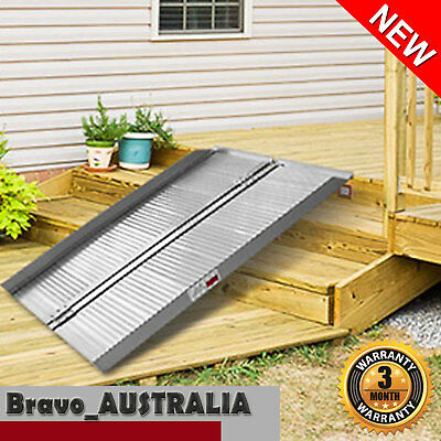 Aluminium Wheelchair Ramp Portable Folding Loading Ramps Mobility Aid 4ft