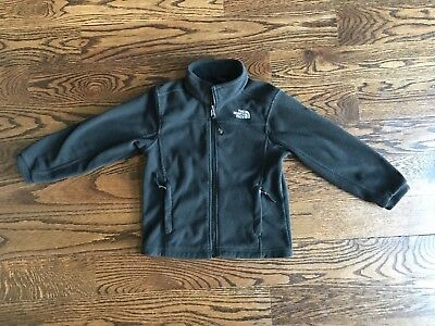 Boys North Face Jacket Coat Black Fleece Size Extra Small XS 6