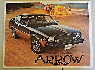 1978 Plymouth Arrow Dealership Sales Brochure, 10 Pages, Original, Very Nice!