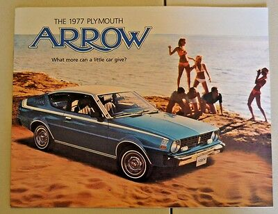 1977 Plymouth Arrow Dealership Sales Brochure, 8 Pages, Printed In 1976, Nice!