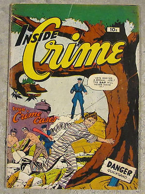 1950 INSIDE CRIME No #. INCOMPLETE BUT COMPLETE! The ultimate comic book error!