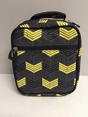 New! Pottery Barn Teen Kids Classic Lunch Box Bag Black Yellow Boy SALE!