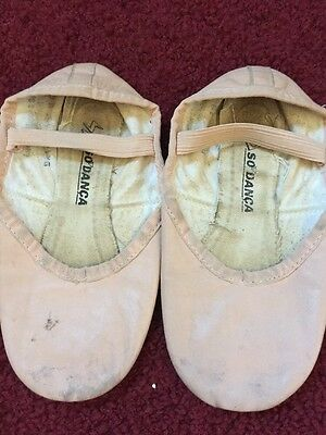 So Danca Girls Pink Ballet Slippers Size 13 M