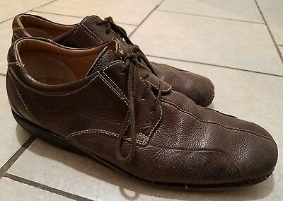 Dockers ProStyle men's brown Leather lace up oxford casual/Work shoes size 10.5