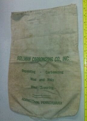Vintage Bollman Carbonizing Co Inc Adamstown PA Advertising Rare