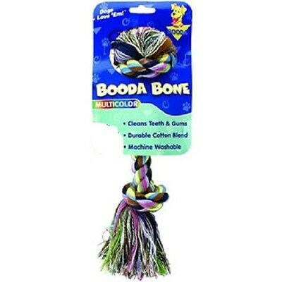 Booda Bone Colossal Rope Toy Multi Color Cotton Blend For Dogs Over 110 Lbs
