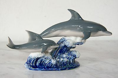 "Lladro 06470 "" A Swimming Lesson "" 1987 Issue Dolphin Figurine"