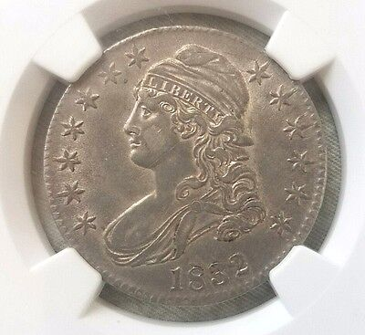 1832 Capped Bust Half Dollar NGC AU 58 O-118. GREAT COLOR AND TONING!