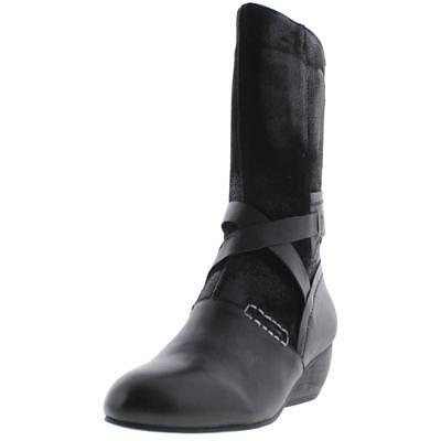 Antelope 3128 Womens 535 Black Leather Mid-Calf Riding Boots Shoes 37 BHFO