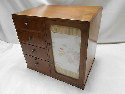 Vintage Tansu Small Keyaki and Kiri Dresser Drawers Chest C1930s Japanese  #682