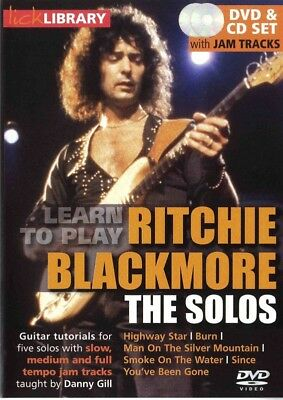 Learn To Play Ritchie Blackmore Solos Lick Library Dvd