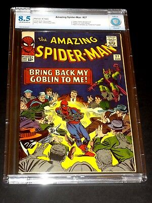 Amazing Spider-Man #27 Cbcs 8.5 Vf+ Green Goblin & Crime-Master!