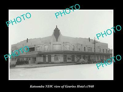 OLD LARGE HISTORIC PHOTO OF KATOOMBA NSW, VIEW OF GEARINS HOTEL c1940