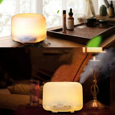 500mL Essential Air Mist Oil Aroma Diffuser Ultrasonic Humidifier Aromatherapy P