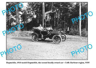 OLD LARGE PHOTO, COFFS HARBOUR NSW, HUPMOBILE IN ACTION c1911