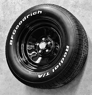 """15"""" x 7"""" & 8"""" BLACK PRO steel WHEELS HQ HX HZ WB HOLDEN Chevy kingswood alloy"""