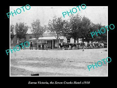 OLD LARGE HISTORICAL PHOTO OF EUROA VICTORIA, VIEW OF SEVEN CREEKS HOTEL c1910