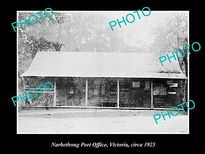 Old Large Historic Photo Of Narbethong Victoria, View Of The Post Office 1925