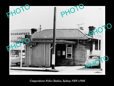 OLD LARGE HISTORIC PHOTO OF THE CAMPERDOWN POLICE STATION, SYDNEY NSW c1960