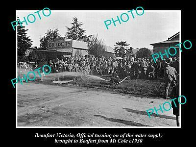 OLD LARGE HISTORICAL PHOTO OF BEAUFORT VICTORIA, TURINING ON THE WATER c1930