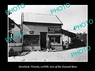 Old Large Historical Photo Of Inverloch Victoria, View Of The General Store 1930