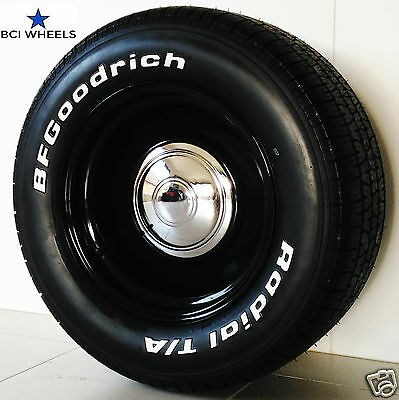 """15"""" 5"""" 6"""" 7"""" 8"""" 9""""  SMOOTHIE BLACK steel WHEELS RIMS Ford FALCON XY HQ HOLDEN WB"""