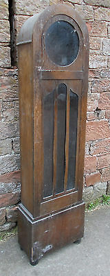 VINTAGE Grandfather LONGCASE CLOCK Oak CASE Only EMPTY For RESTORATION Dome Top