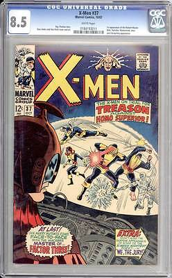 X-Men # 37  On Trial for Crimes Against Homo Superior !  CGC 8.5 scarce book !