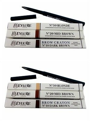 24 x Eylure Brow Crayon Twist Up Intense Brow Crayon...3 shades joblots