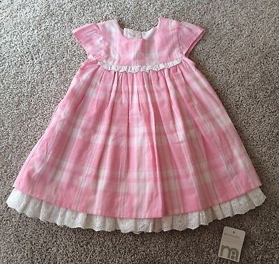 BNWT Mothercare Baby Girls Dress With Nappy Cover, Size 6-9m