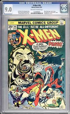 X-Men # 94    2nd appearance of  New X-Men !  CGC 9.0 scarce book !