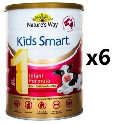 Nature's Way Kids Smart Formula Infant Stage 1 (0-6 Months) 900gramX6 EXP 2017.9