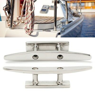 4'' Marine Boat Flat Top Low Cleat Deck Silhouett 316 Stainless Steel Hardware