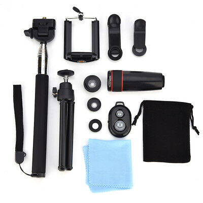 10in1 Lens Phone Camera Cell Clip Universal Optical Telescope Kit Mobile Zoom AF