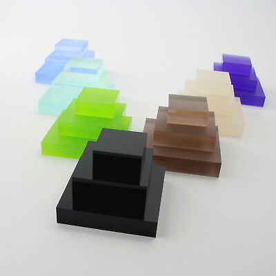 Clear & Coloured Acrylic Display Blocks, Retail, Jewellery Display, 11 Options