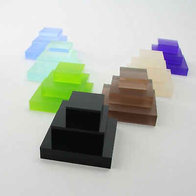 Clear, Frost & Coloured Acrylic Display Blocks, Retail, Stall, Jewellery Display