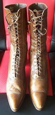 Victorian Era 19th Century Leather Witches Boots