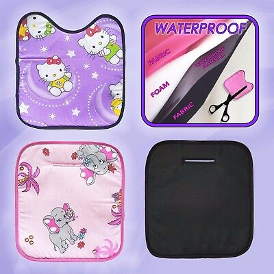 Childs Car Seat Protector Potty Training Waterproof Piddle liner insert Black