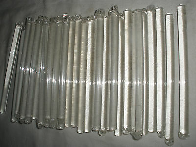 Large lot of 60 pieces Czech Glass Rods stick for chandelier parts 4.5""