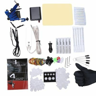 Complete Beginner Tattoo Kit Professional Machine Guns Power Supply Needles Grip