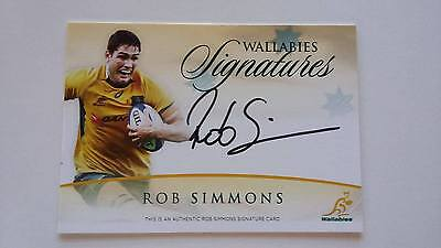2017 TAP N PLAY RUGBY SIGNATURE CARD ROB SIMMONS #06/150 & redemption card