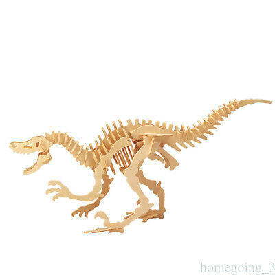 Wooden Installed DIY Toy for 3D Wooden Model Puzzles Tyrannosaurus Dinosaur