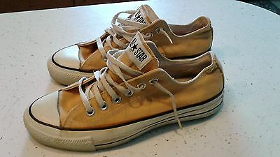 Vintage Converse Chuck Taylor Low Gold Sz 5.5 mens 7.5 womens USA made EUC